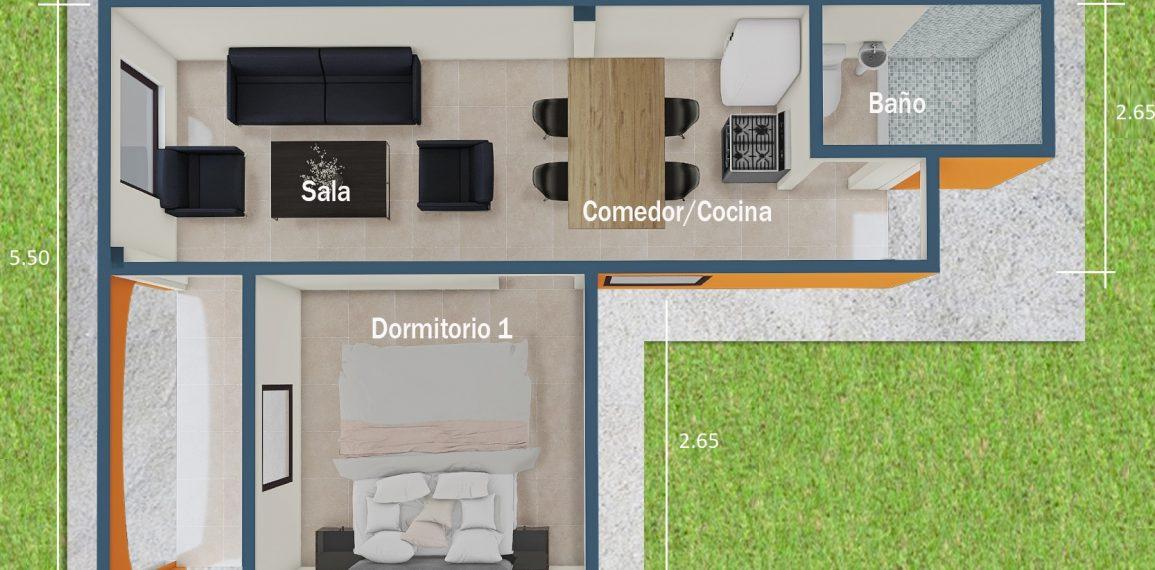 PLANTA ARQUITECTÓNICA - MODELO A1